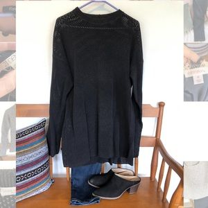 Joan Vass loose cable sweater